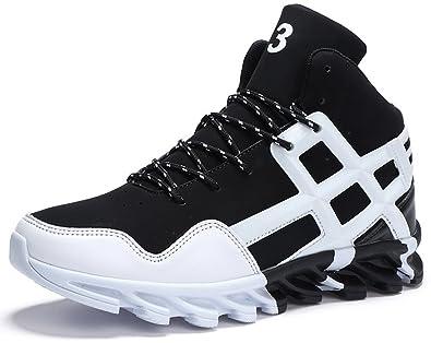 ASHION Herren Basketballschuhe Sneakers Ausbildung Outdoor Turnschuhe, 3-weiß, 46 EU