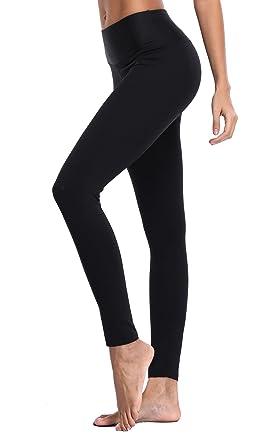 e936b12ddda Amazon.com  ATTRACO Women s Yoga Leggings Running Tights Inner ...