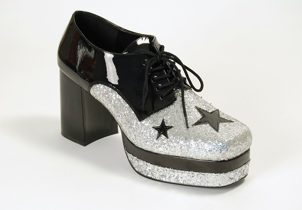 Men's Glam Rock 70s Platform Shoes for Fancy Dress