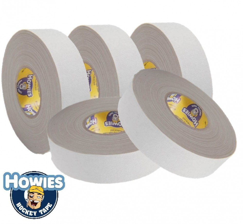 Howies 5x Schlägertape Profi Cloth Hockey Tape weiß 25mm f. Eishockey
