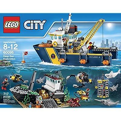 LEGO City Deep Sea Explorers 60095 Exploration Vessel Building Kit: Toys & Games