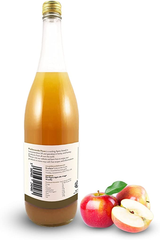 Picklecoombe House Organic Apple Cider Vinegar with Mother (1000ml):  Amazon.co.uk: Grocery