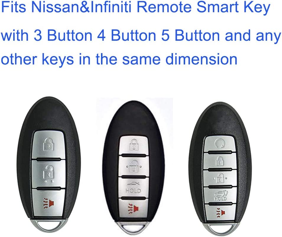 2pc Black Silicone Key Jacket Key Fob Case Cover 4B fit for NISSAN Maxima Altima