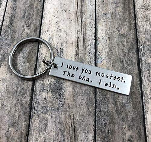 I Love You More Most The End I Win Letter Key chain Valentine/'s Day Gift new