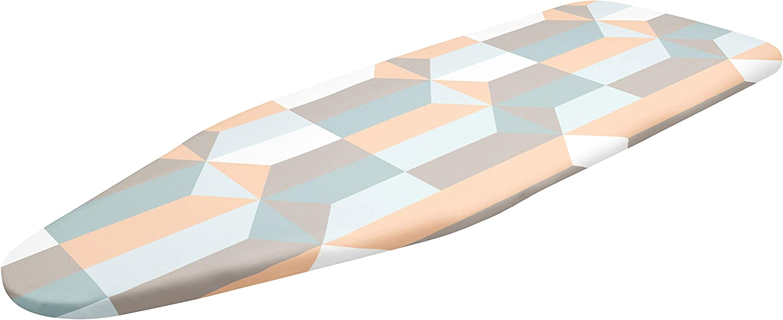 W/ärmereflektierend Gummizug Encasa Home B/ügelbrettbezug f/ür Dampfb/ügeleisen mit extra dickem Polsterung Scorch /& Fleckresistent Blocks F/ür Mittel Standardbretter K/öperstoff 112 x 33 cm
