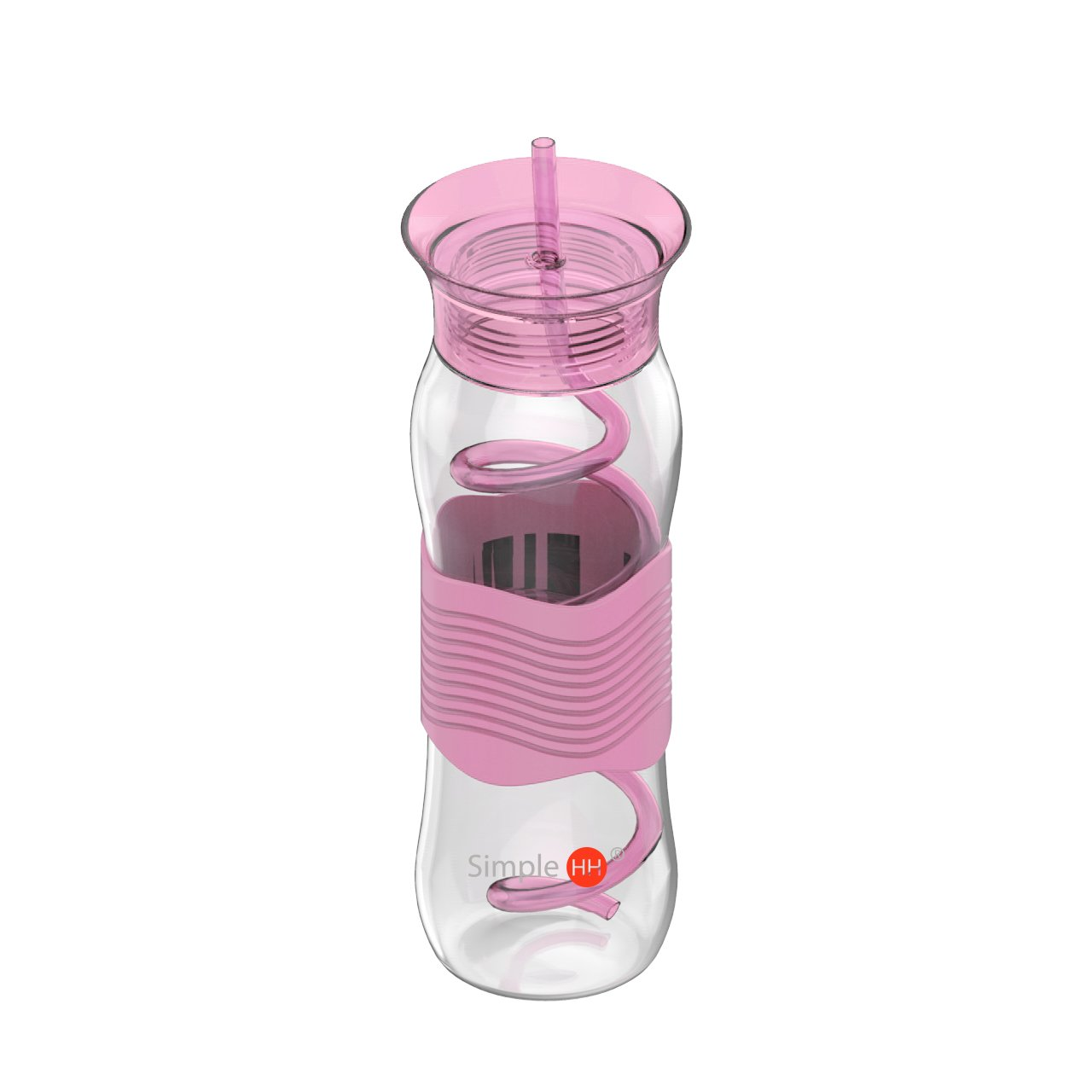 Simple HH Tritan Sport Water Bottlle with Straw|Fashionable Tumbler with Silicon Sleeve,use for Office Gym,School|25oz|Multi Color