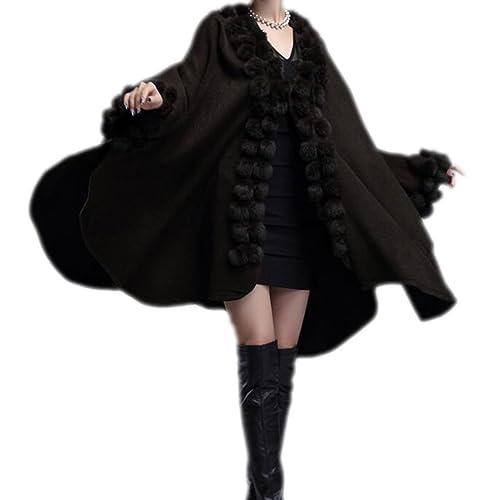 Mujer Otoño E Invierno Mantón Chal De Punto Chaqueta De Punto Abrigo Grueso Abrigo Grueso