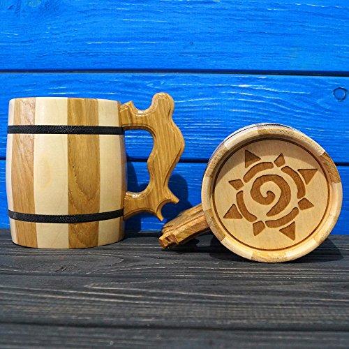 Hearthstone Handmade Wooden Beer Mug