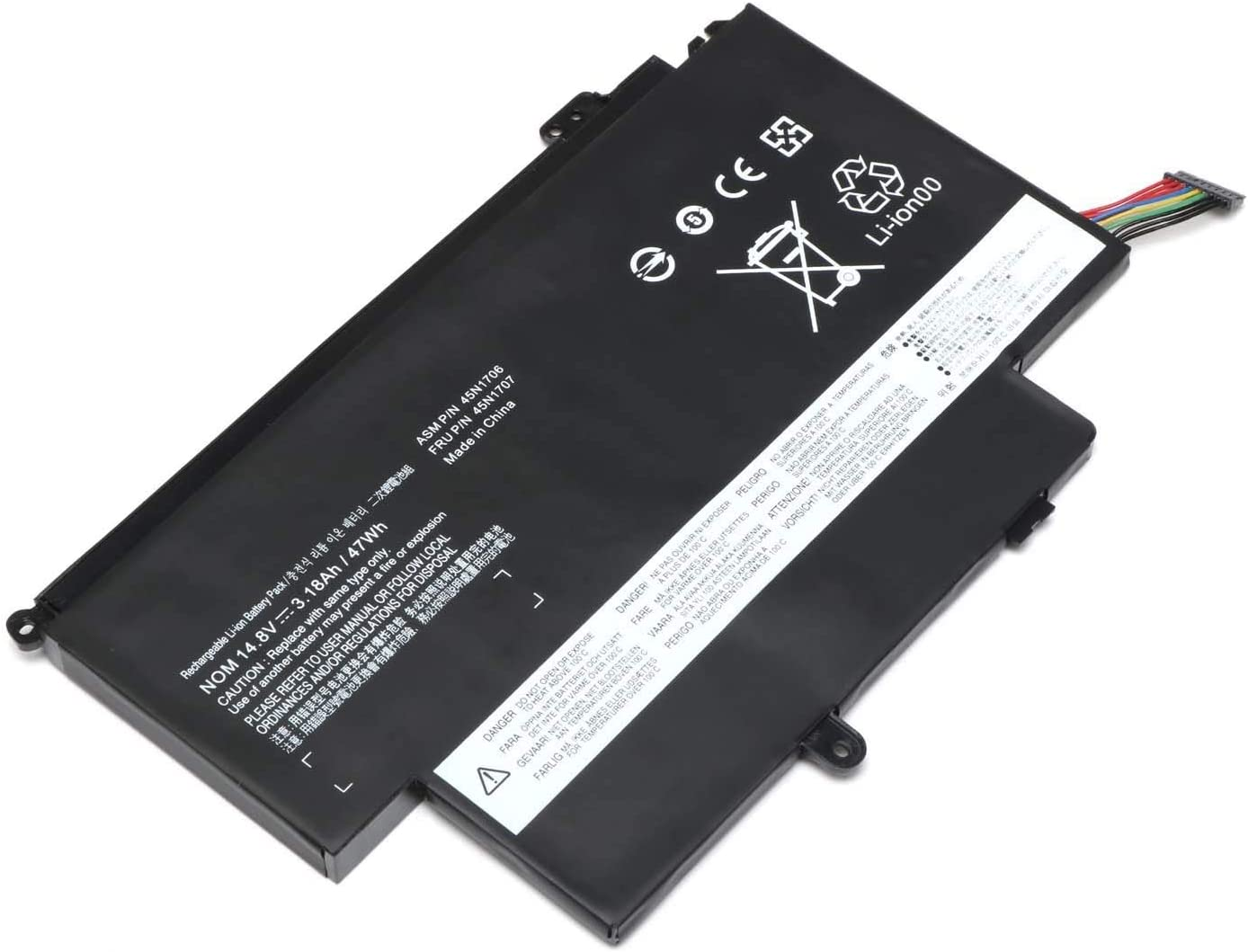 SERNN 45N1704 Replacement Battery Compatible with Lenovo ThinkPad S1 Yoga/ThinkPad Yoga 12 Series 20CD 20DL 20DK 20DL 45N1705 45N1706 45N1707 [14.8V 47Wh]