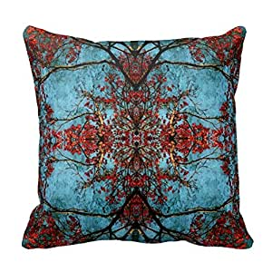 Periwinkle Blue Throw Pillow : Amazon.com: Periwinkle Blue Fancy Floral Damask Pattern Throw Pillow: Home & Kitchen