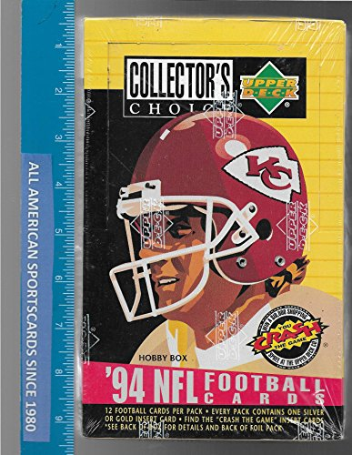 1994 UPPER DECK COLLECTOR'S CHOICE FOOTBALL FACTORY SEALED BOX MARSHALL FAULK ROOKIE (Sealed Upper Box Deck Factory)
