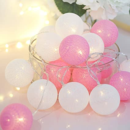 huge selection of f908a 7adf8 Amazon.com : ALLHEARTDESIRES 10 Feet Mixed Baby Pink White ...