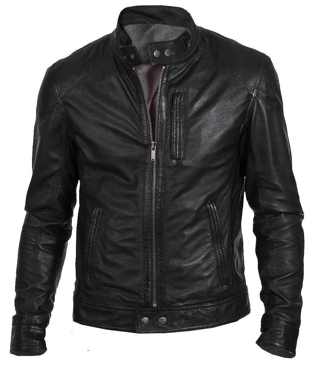The Sparks Up Inc. Biker Hunt Stylish Fashion Casual Weat Genuine Leather Jacket
