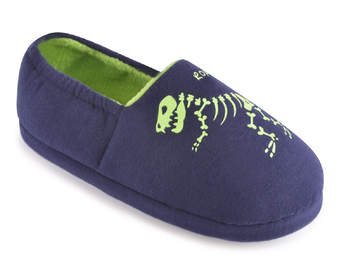 Childrens Glow in The Dark Dinosaur Slippers