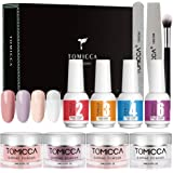 Dip Powder Nail Kit, TOMICCA Nail Dipping Powder System Starter Kit of 4 Colors 0.52oz - Finer Powder for Excellent Colour