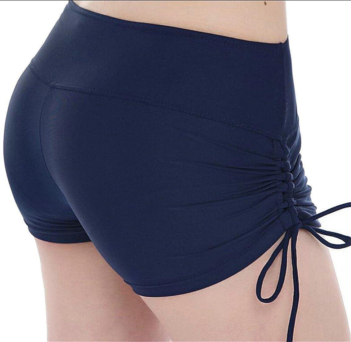 Fulok Womens Quick Dry Boardshorts Bathing Suits Swim Trunks Beach Shorts Navy Blue S