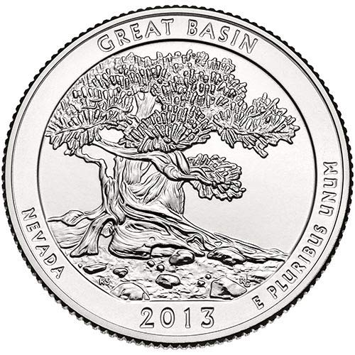 2013 P,D,S BU Great Basin Nevada National Park NP Quarter Choice Uncirculated US Mint 3 Coin Set