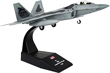 1//100 Alloy American F-22 Fighter Raptor Plane Aircraft Model w// Metal Stand