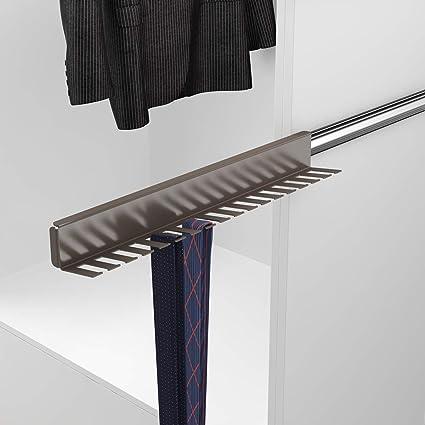 Casaenorden - Colgador extraíble Lateral para Corbatas y Cinturones - Perchero para Corbatas - Cinturonero, Acero Plata/Lado Derecho: Amazon.es: Hogar