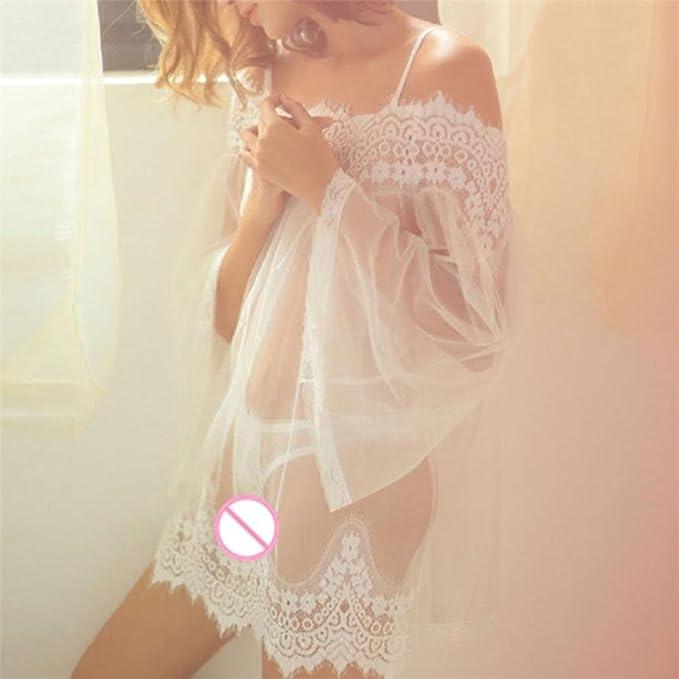 Amazon.com: Tsmile Hot Sale❤ /Lingerie/Clearance✿Babydoll{Sleeveless Sleepwear}Underwear{Lace Dress} Nightwear +G-String (White): Clothing