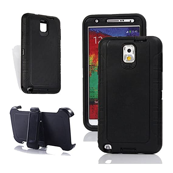 pretty nice 3b4c3 9b04f Note 3 Holster Case, Harsel Heavy Duty Tough Rugged Defender Armor Scratch  Resistant Full Body Protective Military Grade w' Belt Clip Built-in Screen  ...