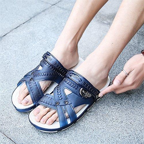 Blue 01 Unisex Garden Sandals Slip Breathable Non Clogs Shoes Shower Outdoor Summer Walking Slippers Slides Sport Techcity Pool Beach qd1nTUwW1