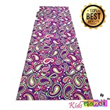 Kids Mandi™ High Density Comfortable Durable Premium Printed 6mm Thick Yoga Mat with Carry Bag