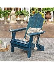 Walker Edison Sullivan Classic Solid Acacia Wood Outdoor Folding Adirondack Chair