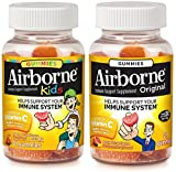 Airborne (Parent + Child Combo Pack) Immune Support Gummies, Assorted Fruit, Kids 21 Ct & Adult 21 Ct, 1 Ea