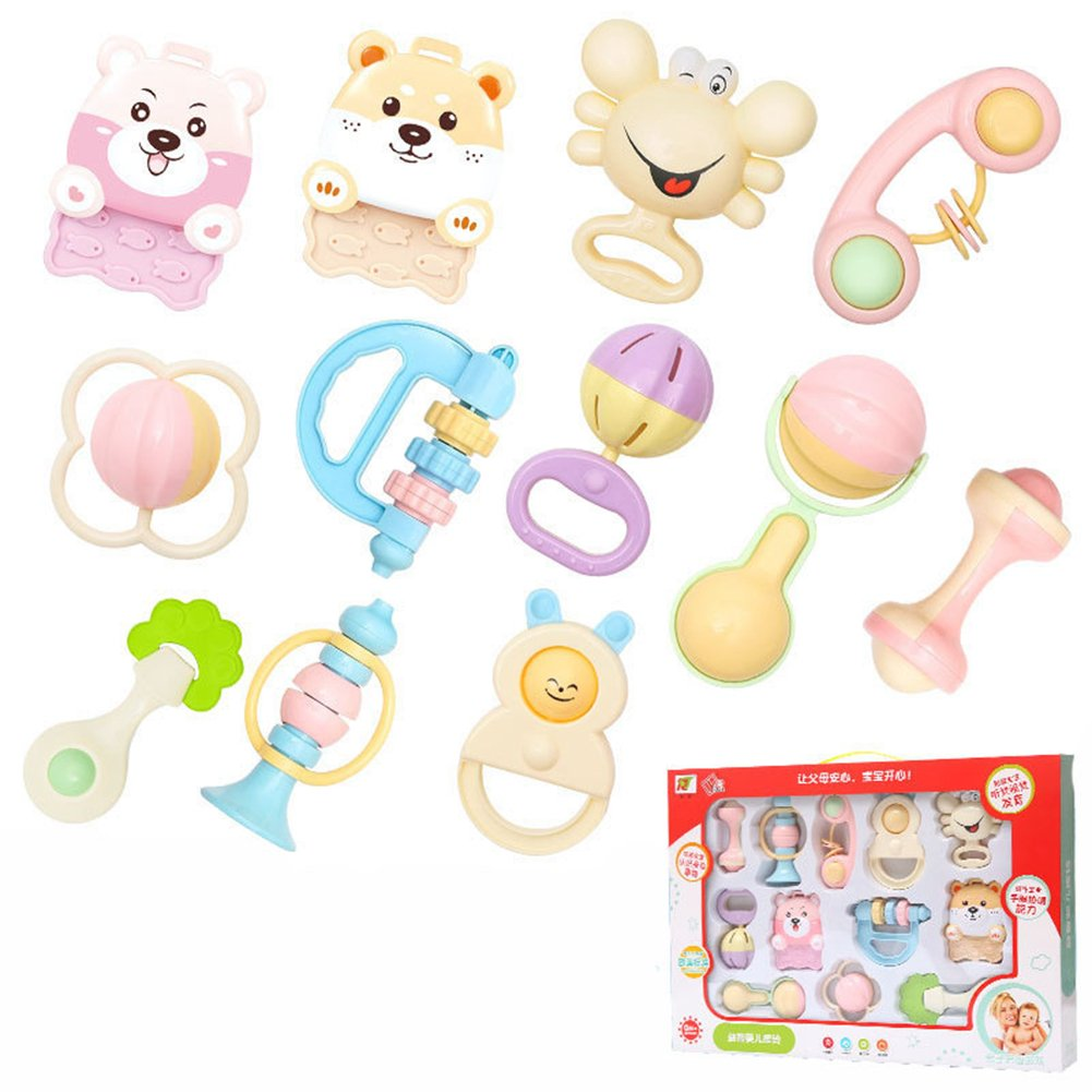 Silicone Baby Teether, BPA Free Soft and Safe Teething Toys for Babies, Infants and Toddlers, Gift Set for Babies