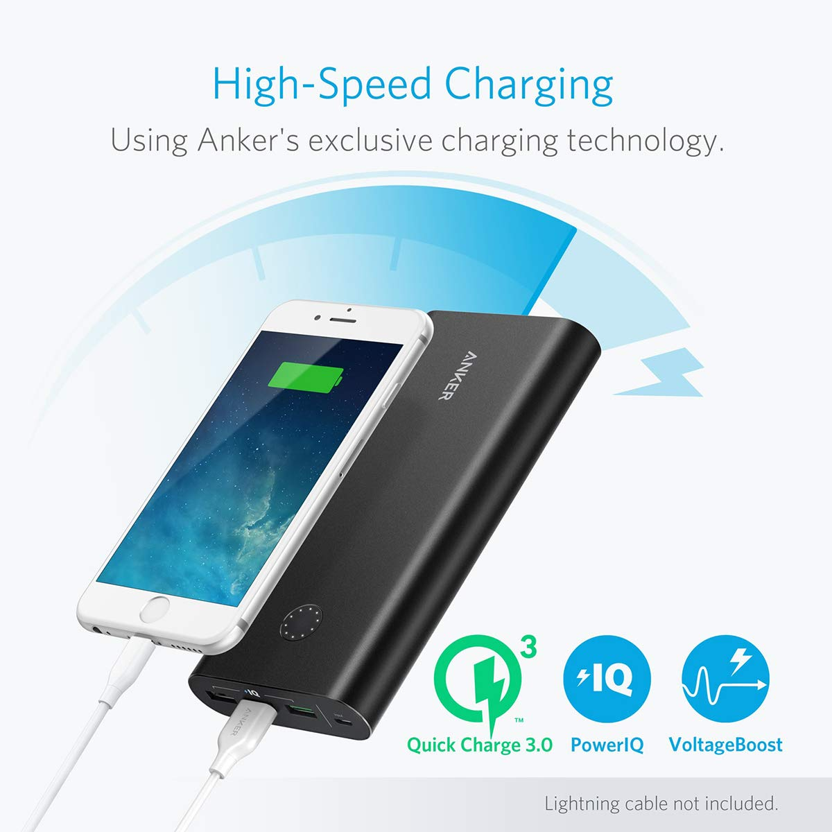 Anker PowerCore+ 26800, Premium Portable Charger, High Capacity 26800mAh External Battery with Qualcomm Quick Charge 3.0 (in- and Output), Includes PowerPort+ 1 Wall Charger by Anker (Image #2)