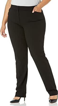 Lark & Ro Amazon Brand Women's Straight Leg Trouser Pant: Classic Fit
