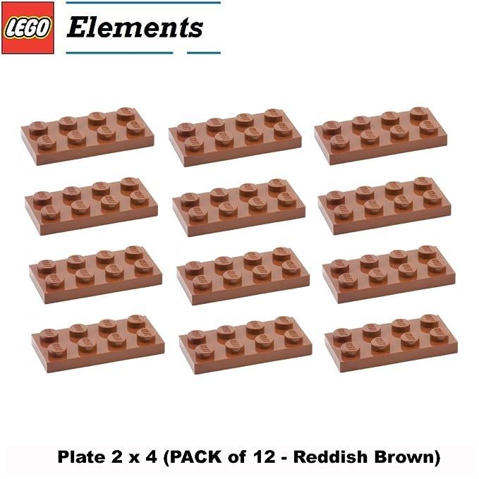 LEGO PART 3020 PLATE 2 X 4 TAN BEIGE X 10 PIECES