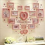 LQQGXL Multi-frame set, a large photo frame set, the best wall decoration Photo frame ( Color : Pink frame )