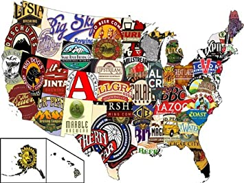 Amazon sj1162 united states usa beer map cool 24x18 print sj1162 united states usa beer map cool 24x18 print poster gumiabroncs Gallery