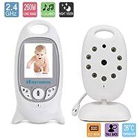 """Vigilabebés con Cámara bebé Monitor Inalámbrico Babyphone de Vídeo Cámara Vigilabebé Digital Pantalla LCD a Color de 3.2"""" con Visión Nocturna"""