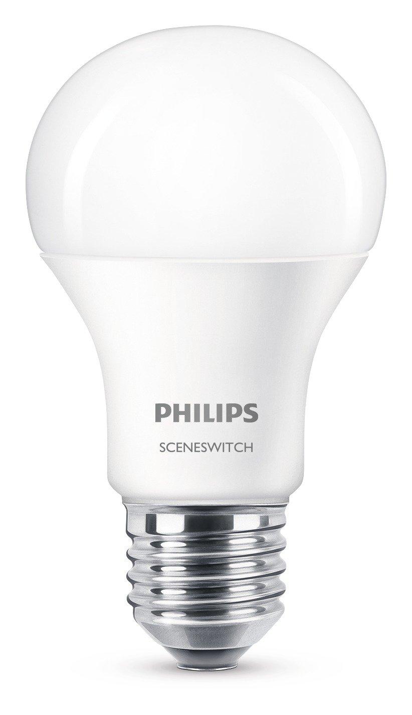Superior Einfache Dekoration Und Mobel Sceneswitch Von Philips #6: Philips 2-in-1 LED Lampe SceneSwitch Ersetzt 60W, EEK A+, E27 Standardform,  Dimmen Ohne Dimmer: Amazon.de: Beleuchtung