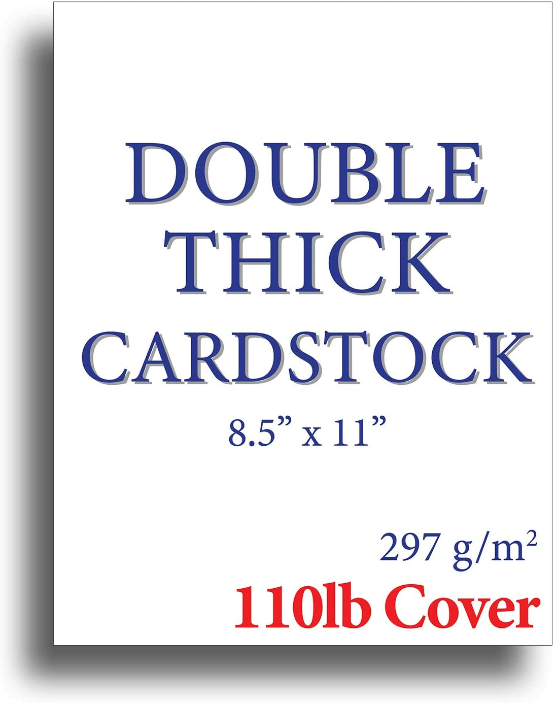 """110lb Cover Ultra Heavyweight Double Thick Cardstock - Bright White - 8.5"""" x 11"""" - For Inkjet/Laser Printers (200 Sheets)"""