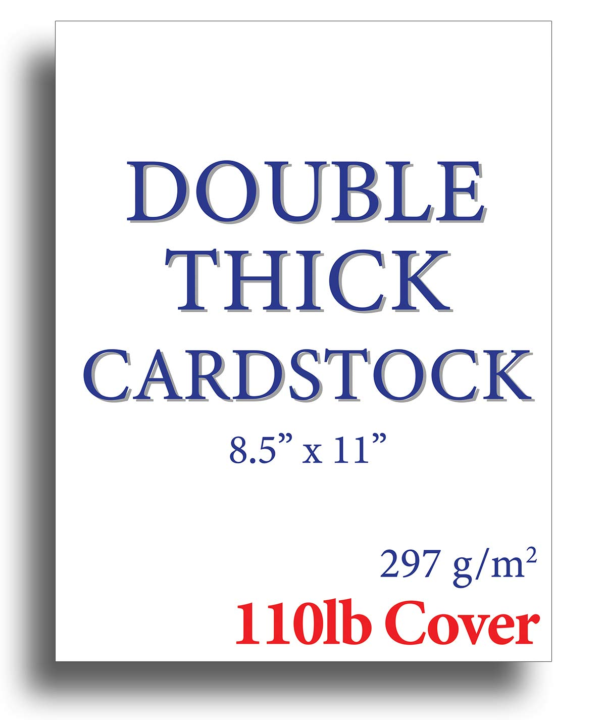 110lb Cover Ultra Heavyweight Double Thick Cardstock - Bright White - 8.5'' x 11'' - For Inkjet/Laser Printers (200 Sheets)
