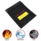 """Fireproof Document Bag,Aolvo Fireproof Waterproof Document Bag Safe Storage Pouch for Cash,Document,Passport,Valuables and Battery (7.1""""x 9.1"""")"""