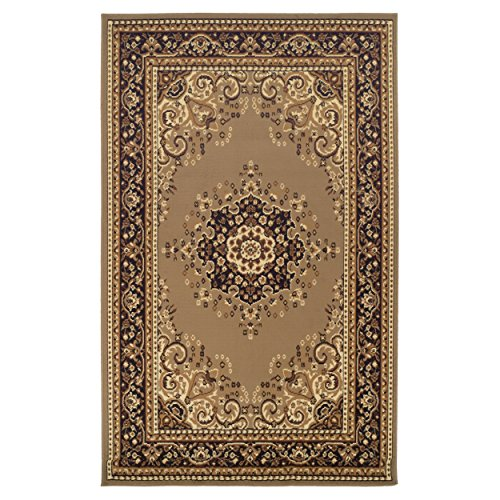 Superior Designer Leopold Area Rug, 6' x 9', Golden ()