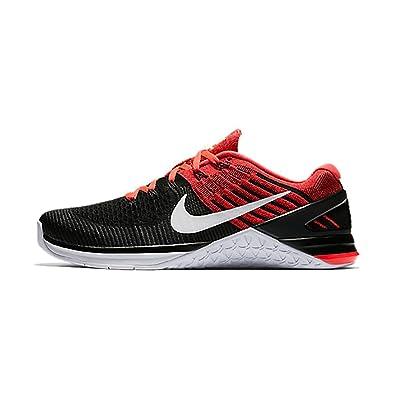 Nike Mens Metcon DSX Flyknit Size 14 Black/WhiteBrightCrimson/GymRed