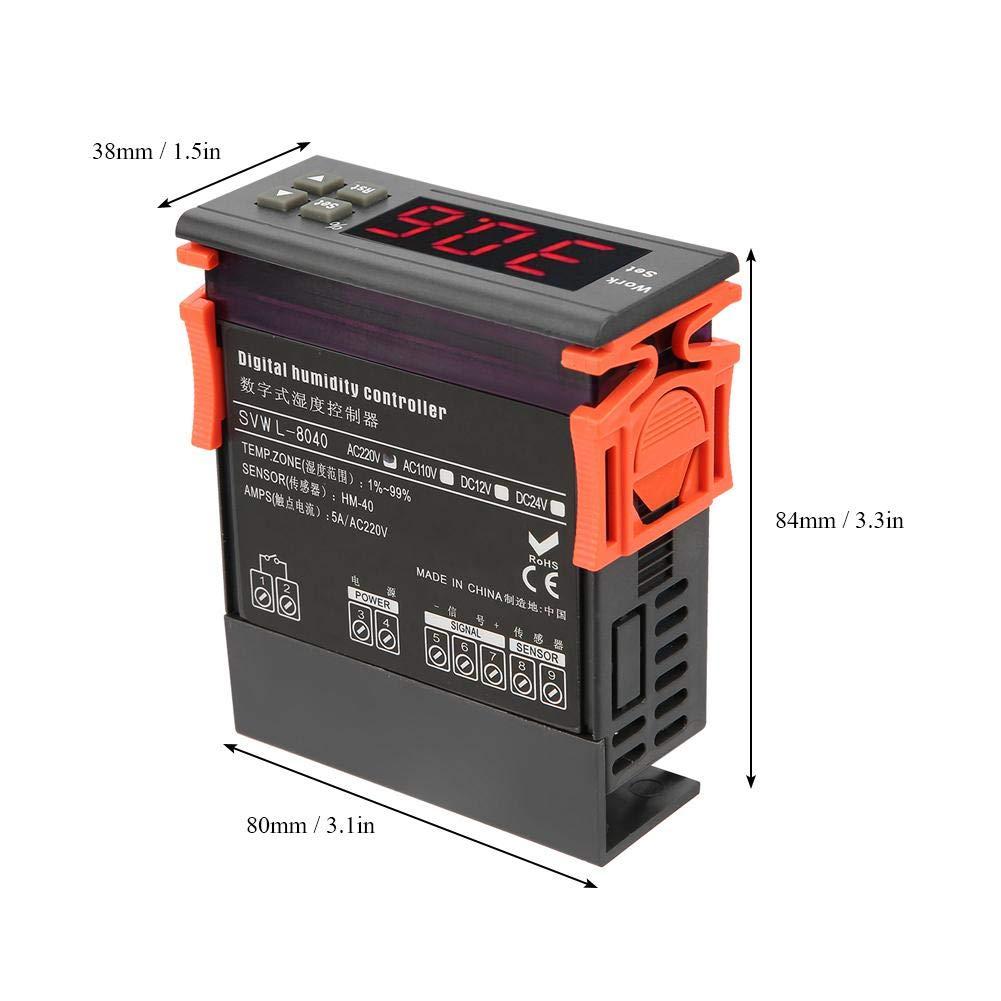 99/% RH HM-40 Tipo di umidificazione Controllo umidostato con sensore Gamma di controller di controllo dellumidit/à dellaria digitale CA 220 V 1/%