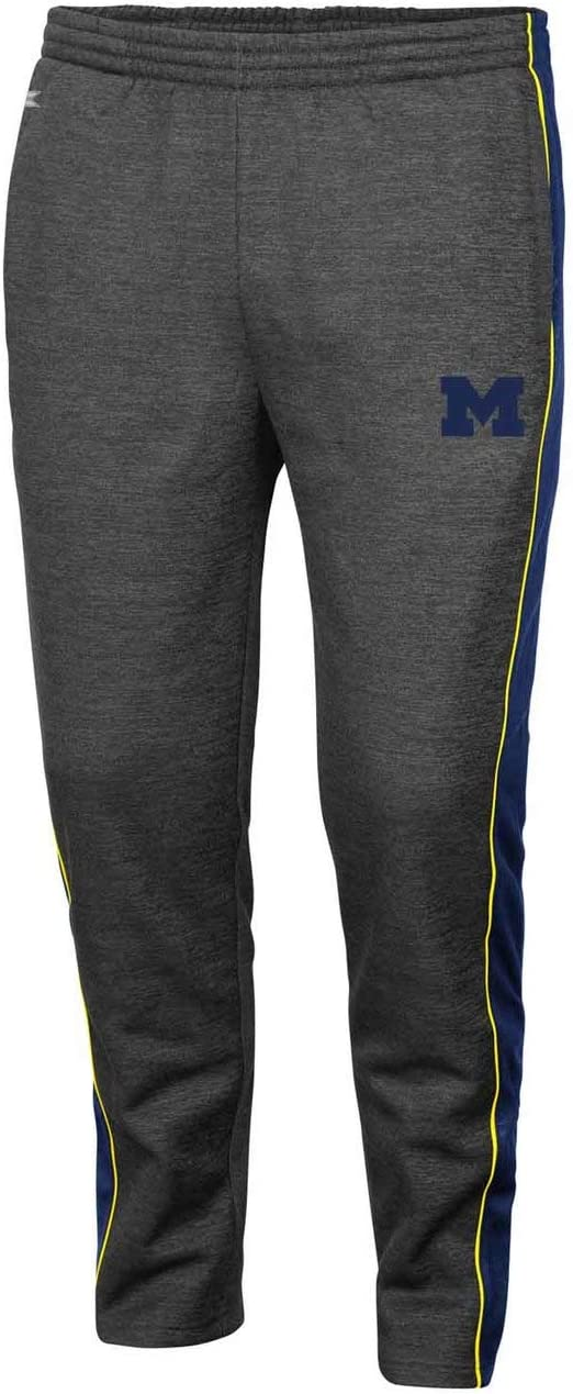 Navy Champion NCAA Michigan Wolverines Mens Field Day Fleece Pant Large