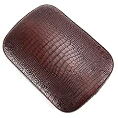 This listing features 1 Pc Black Leather Rear Passenger Pad for most Harley Davidson motorcycles. This pad does a great help when you want to give your friend a ride with your single seated motorbike. Its stylish design is perfect to decorate...