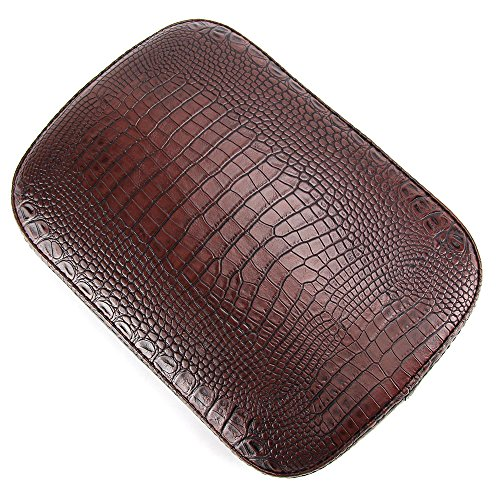 - Oumurs Alligator Synthetic Leather Suction Cup Passenger Pillion Pad Seat Rectangle Cushion Pad for Harley Sporster XL 883 1200 Chopper Bobber Dyna Touring (8 Suction Cup Brown)