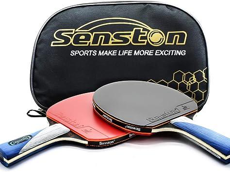 Amazon.com: ITTF - Juego de palas de ping pong con 2 bates ...