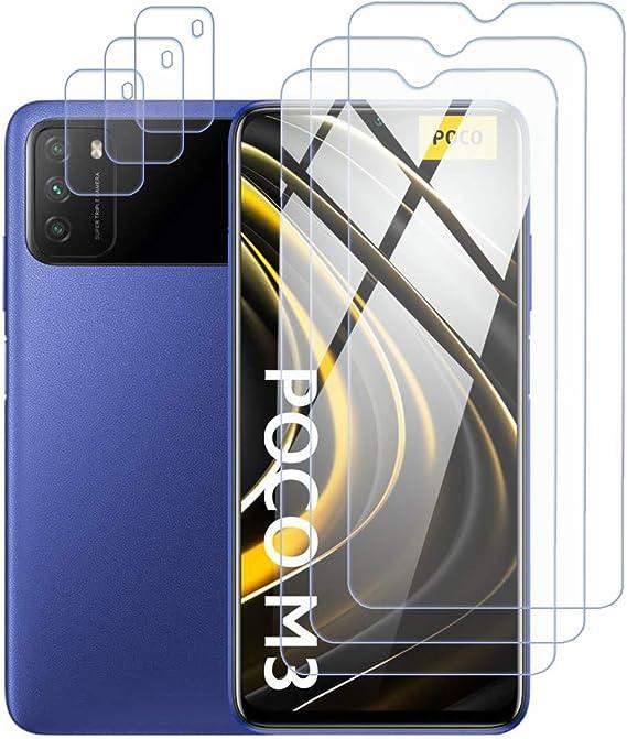 3 Pack Protector de Pantalla para Xiaomi Poco X3 NFC + UniqueMe 9H Dureza HD Film Cristal Templado 2 Pack Protector de Lente de c/ámara Vidrio Templado