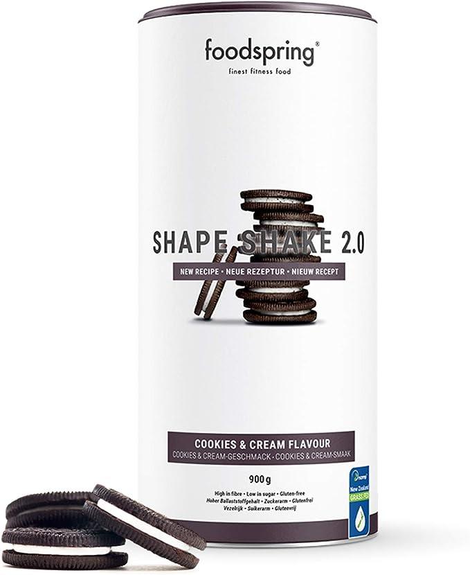 foodspring Shape Shake 2.0, Cookies & Cream, 900 g ...