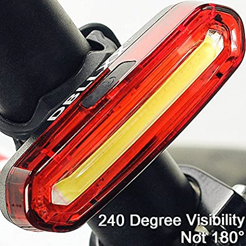 Super Bright Bike Light LED USB Rechargeable,DBLLXX Bike Tail Light 6 Modes,Waterproof,Helmet Light Accessories Fits on any Bicycles,Easy to Install for Cycling Safety (Bike Back Light Usb)
